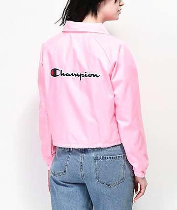 Champion chaqueta entrenador rosa