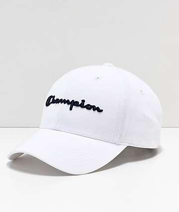 694f02bd2cc45 Champion gorra de sarga blanca con logo azul marino