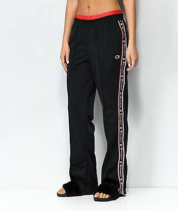 Champion pantalones de chándal negros y rojos