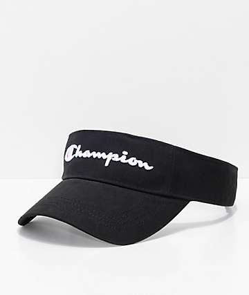 Champion visera negra de tela asargada y malla