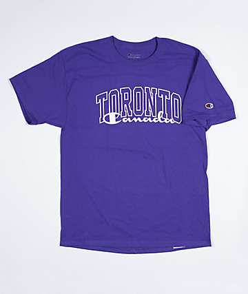 Champion x EHLIFE Toronto Overlay Purple & White T-Shirt