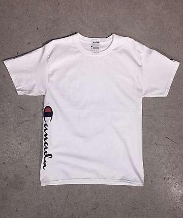 Champion x EHLIFE Vertical Canada Script White T-Shirt