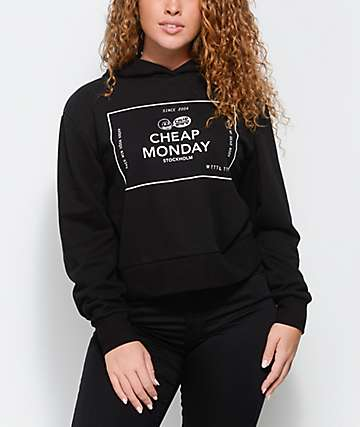 Cheap Monday Attract Box Logo Black Hoodie