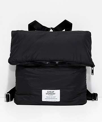 Cheap Monday Zip Puffer Black Backpack