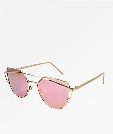 Chester Cateye Gold & Rose Sunglasses