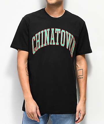 Chinatown Market Collegiate Black T-Shirt