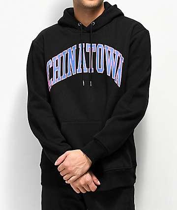 Chinatown Market Collegiate sudadera con capucha negra