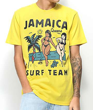 Chinatown Market Jamaica Surf Team Yellow T-shirt