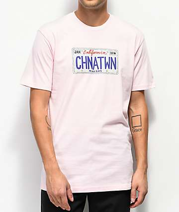 Chinatown Market License Plate Salmon T-Shirt