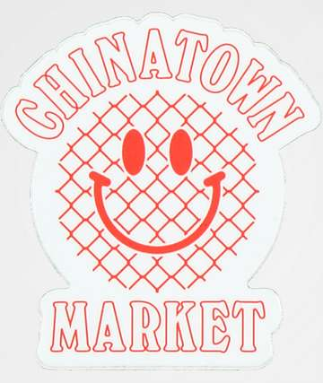 Chinatown Market Red Smile Face Sticker