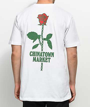 Chinatown Market Rose Chain White T-Shirt