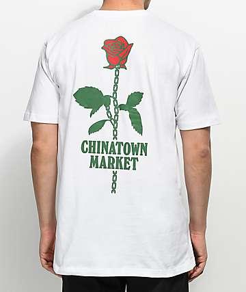 Chinatown Market Rose Chain camiseta blanca