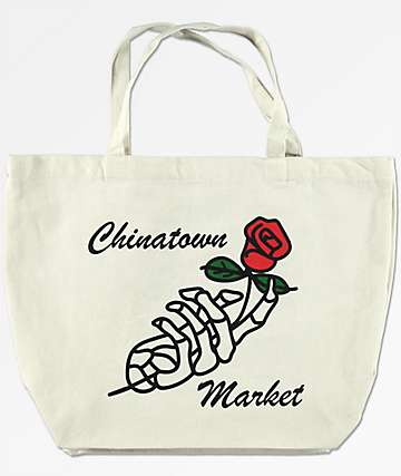 Chinatown Market Skeleton Rose Cream 20L Tote
