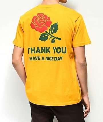 Chinatown Market Thank You Rose camiseta dorada