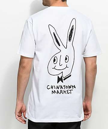 Chinatown Market The Real Bunny White T-Shirt