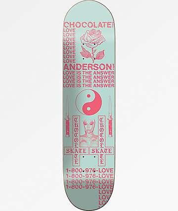 "Chocolate Anderson Darkslide Skidul 8.5"" tabla de skate"