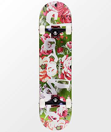 "Chocolate Anderson Floral Chunk 7.75"" Skateboard Complete"