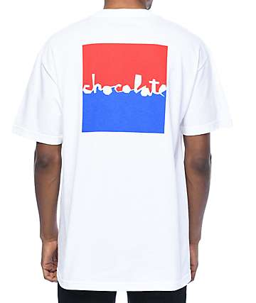 Chocolate Knockout Chunk White T-Shirt