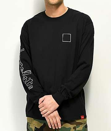 Chocolate Line Chunk Square camiseta negra de manga larga