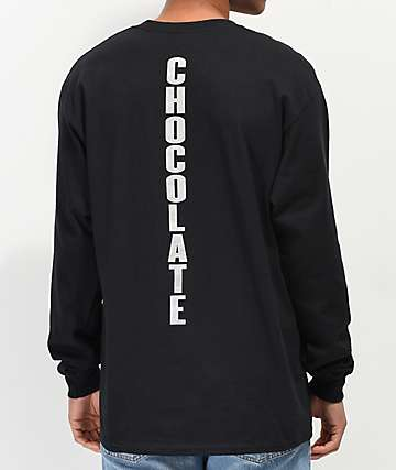 Chocolate Safety Cone Black Long Sleeve T-Shirt
