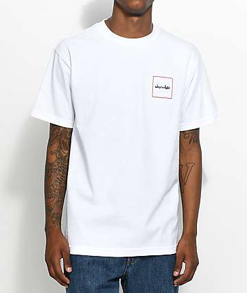 Chocolate Squared White T-Shirt