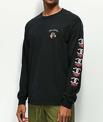 Chocolate Stable Black Long Sleeve T-Shirt