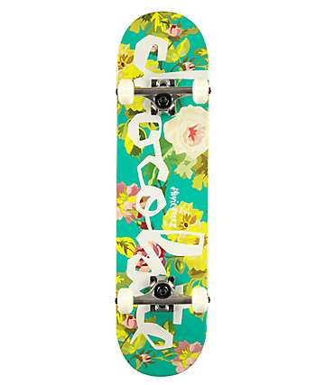 "Chocolate Stevie Floral Chunk 7.75"" Skateboard Complete"