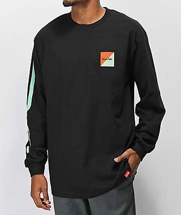 Chocolate Tidal Chunk Black Long Sleeve T-Shirt