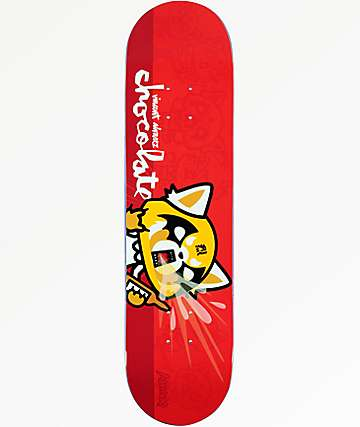"Chocolate x Sanrio Alvarez Aggretsuko 8.0"" Skateboard Deck"