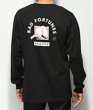 Chomp Bad Fortune camiseta negra de manga larga