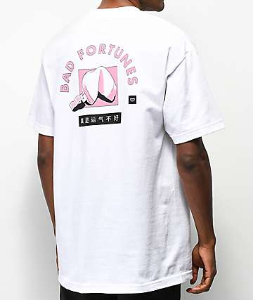 Chomp Bad Fortunes camiseta blanca