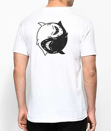 Chomp Fin Fan II White T-Shirt