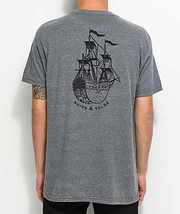 Chomp Ships And Salsa Grey T-Shirt
