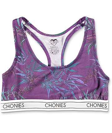 Chonies Purple Haze Sports Bra