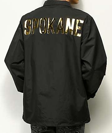 City Chapters Spokane chaqueta entrenador negra