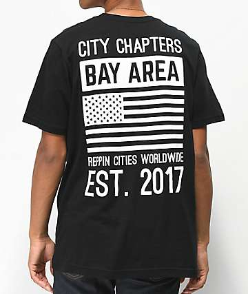 City Chapters The Bay Area Stack Black T-Shirt