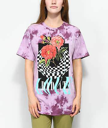 Civil Bad At Love Pink Tie Dye T-Shirt