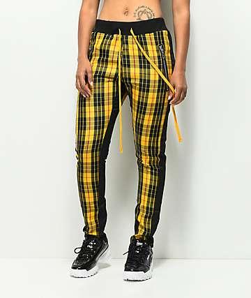 Civil Clothing Mulholland Yellow Track Pants