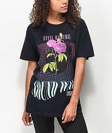 Civil Sound Wave camiseta negra