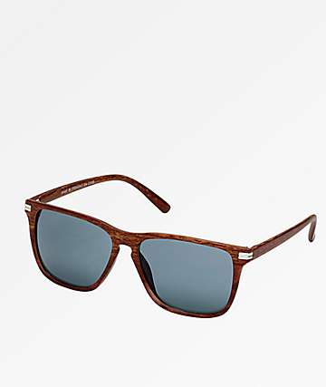 Classic Brown Woodgrain & Smoke Sunglasses