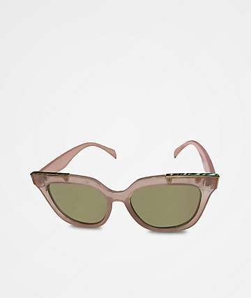 Classic Clear Pink & Gold Sunglasses