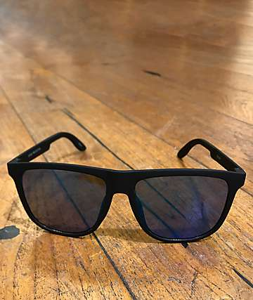 Classic Flat Top Blue Mirror Sunglasses