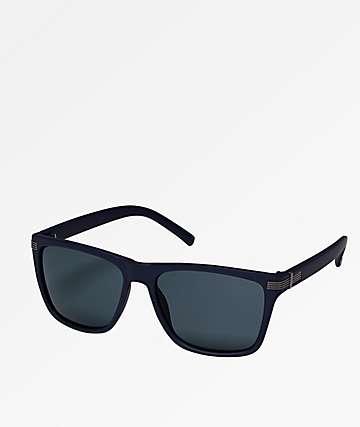 Classic Flat Top Navy & Smoke Sunglasses