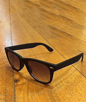 Classic Rubberized Wayfarer Black Sunglasses