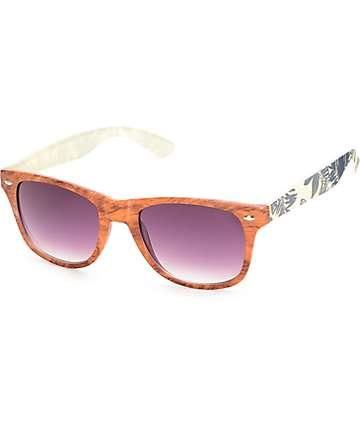 Classic South Pacific gafas de sol madera y palmera