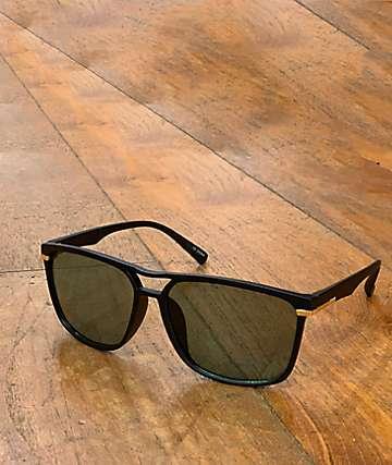 Classic Square Frame Black Sunglasses