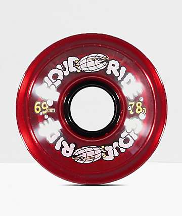 Cloud Ride Clear Red 69mm 78a ruedas de longboard