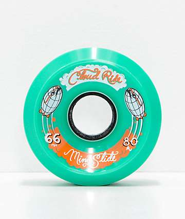 Cloud Ride Mini Slide 66mm 80a Teal Cruiser Wheels