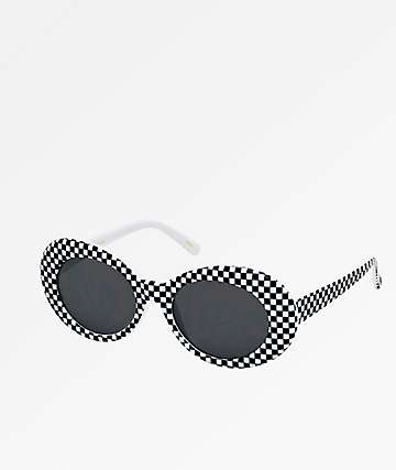 Clout Goggle Checker & Smoke Sunglasses