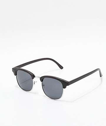 Clubmaster Black & Silver Sunglasses